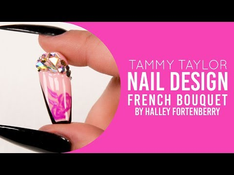 ❤ Tammy Taylor | French Bouquet Nail Art Design | Halley Fortenberry | Chit Chat - YouTube