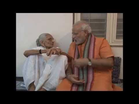 PM takes blessings from his Mother on his birthday (HD)