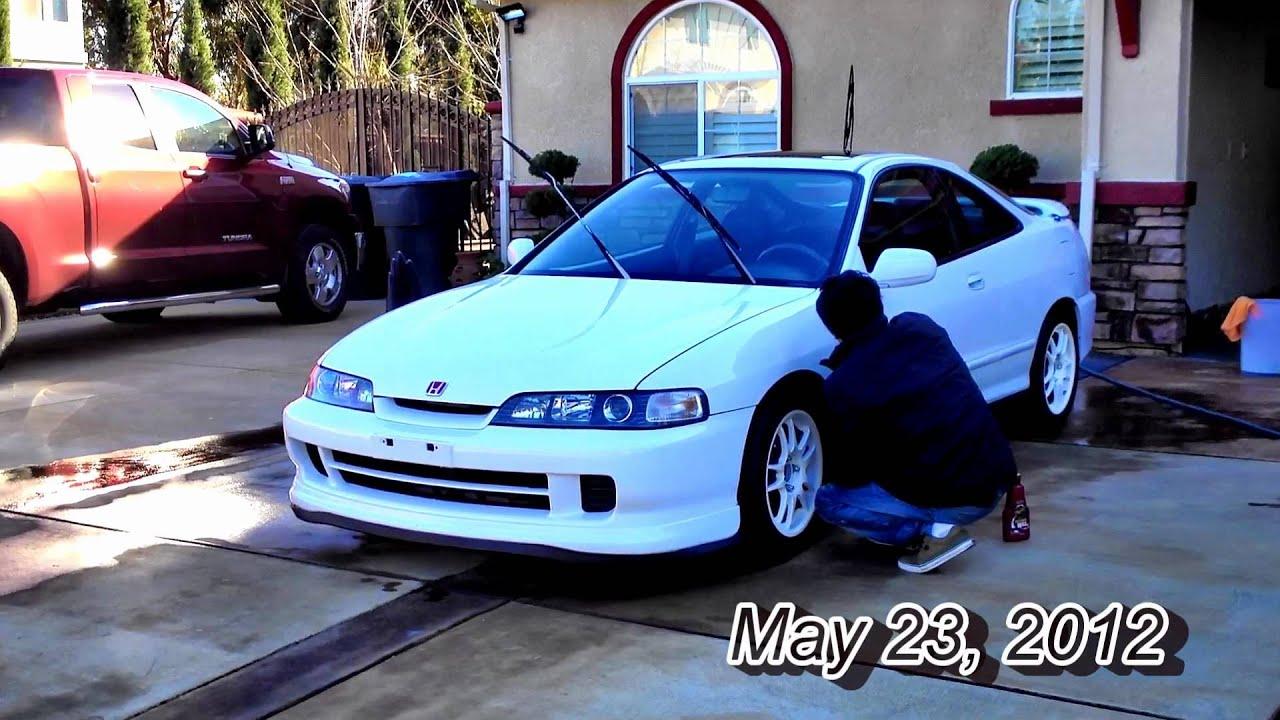 1998 white JDM Honda Integra - YouTube