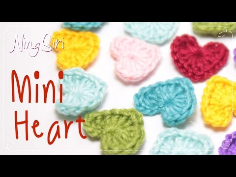 how to make a crochet heart step by step