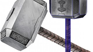 thor's hammer papercraft (free download)