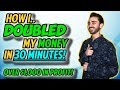 How I Doubled My Money in 30 Minutes Trading Stocks   + $1,025 Profit
