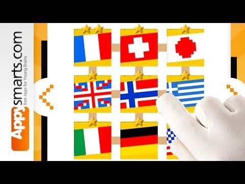 Educational Math Puzzles for Preschoolers: Flags  [iPhone,iPad,Android]