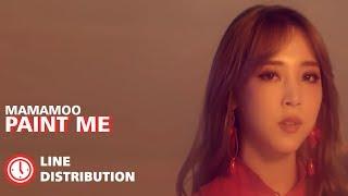 MAMAMOO (마마무) - Paint Me (칠해줘) : Line Distribution (Color Coded)