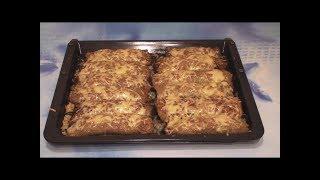 Картофельные блинчики с мясом под сырной корочкой (драники)