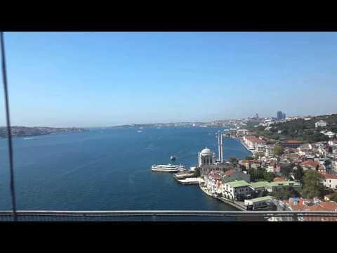 Istanbul, Bosphorus bridge (fast video)