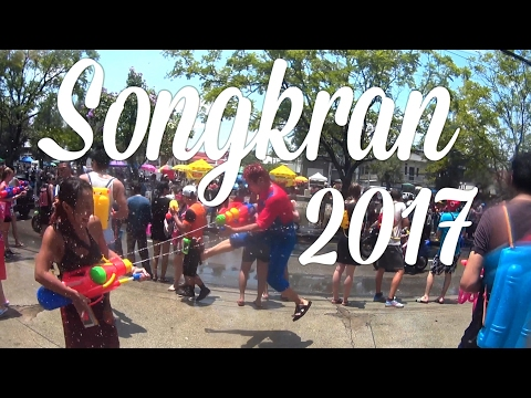 Crazy Songkran Festival 2017! The Worlds Biggest Water Fight [4K]
