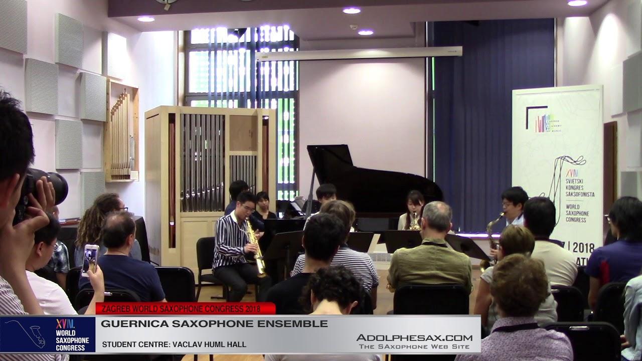 Volga Nights by Koji Ueno   Guernica Saxophone Ensemble   XVIII World Sax Congress 2018 #adolphesax