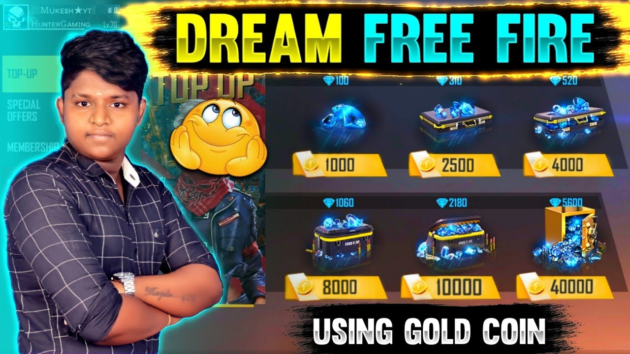 Buying Diamond using gold coin our Dream free fire 😱