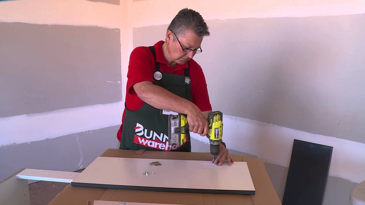How To Hang Corner Cabinet Doors - DIY At Bunnings - YouTube