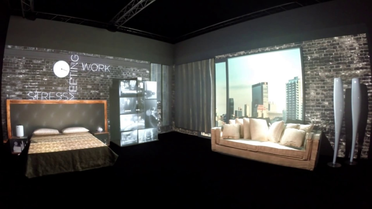 3d room video mapping projection london design week 100 sign
