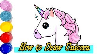 How to Draw Unicorn -   Drawing a Cute Unicorn - Learn Colors with Unicorn Art