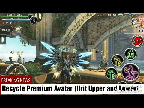 Avabel Online : Recycle Premium Avatar (Ifrit Upper And Lower)