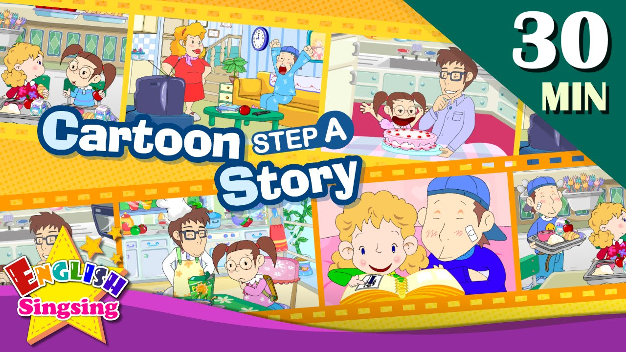 How old are you?+More Kids Cartoon story step A | Learn English | Collection of Easy conversation