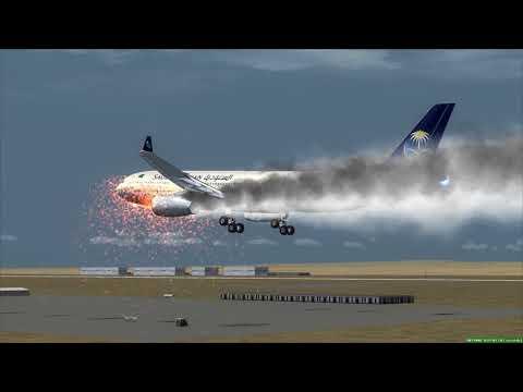 MAYDAY! SAUDIA Airbus A330 crash at Jeddah