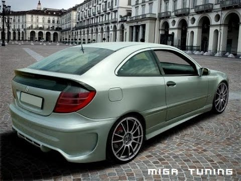 MERCEDES SPORT COUPE TUNING BODY KIT - YouTube