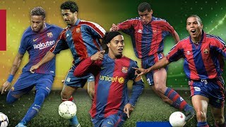 The first goals of Brazilian superstars at Barça