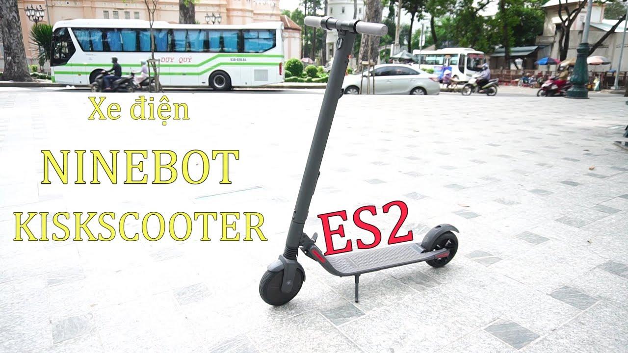 Xe Điện Ninebot KiskScooter ES2 - Tốc Độ 25km/h - Đèn Pha LED - Sạc Đầy Chạy 25KM