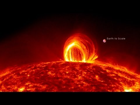NASA | Fiery Looping Rain on the Sun