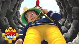 Sam el Bombero Español 🌟Bajando por el pozo   Compilación divertida 🔥Dibujos animados   Wild