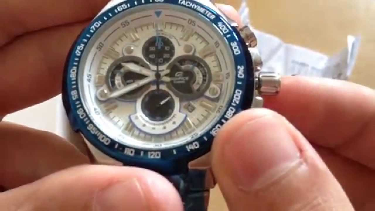 Casio Edifice Ef 554 Chronograph 100m Youtube 543d Stainless Silver Chrono Men Watch