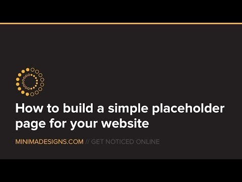 How to design a simple placeholder page for wordpress