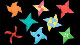 8 Origami ninja star 4 points