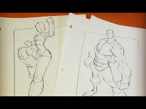Sketches @ Breakfast -  Drawing Warmup Poses 01