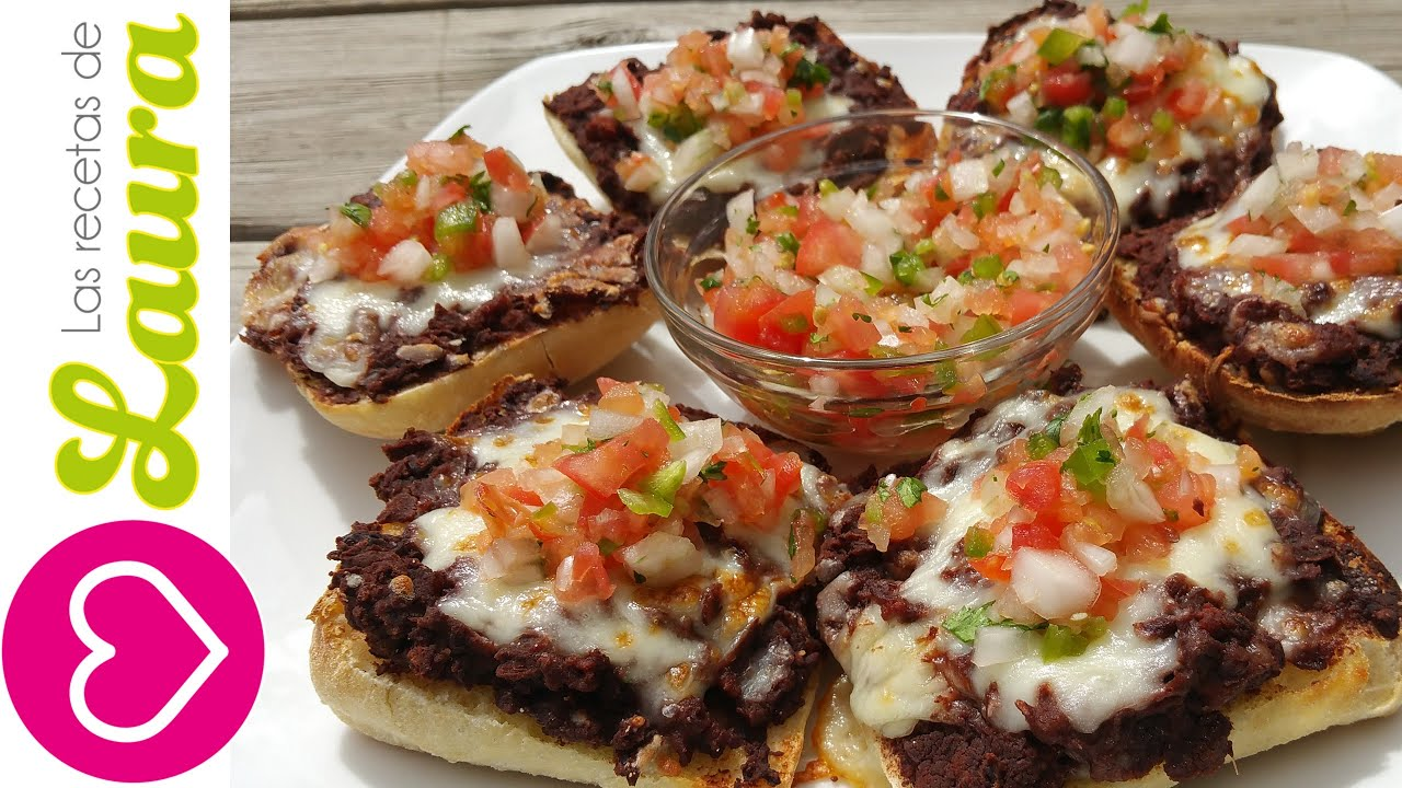 Molletes mexicanos con chorizo y pico de gallo youtube for Desayunos sin cocinar