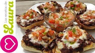 Molletes Mexicanos con Chorizo y Pico de Gallo