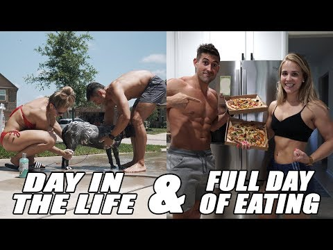 Day in The Life and Couples Full Day of Eating IIFYM - Pizza and Ice Cream