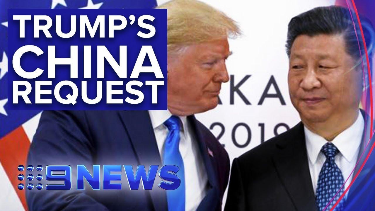 Donald Trump now calls on China to investigate Joe Biden | Nine News Australia