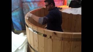 DIY , self build, build yourself wood burning hot tub.