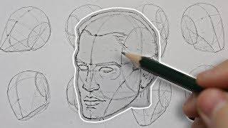 Drawing the HEAD from ANY ANGLE! Basic Construction EXPLAINED