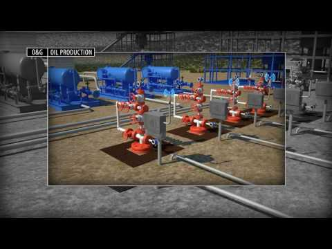 3D Animation Showing Oil and Gas Production Well Pad