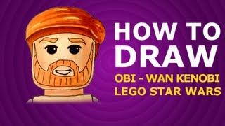 How to draw - Obi-Wan Kenobi - Lego Star Wars
