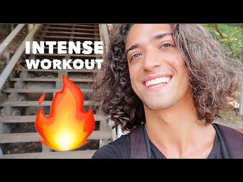 I almost died.. | Santa Monica Stairs WORKOUT 💦