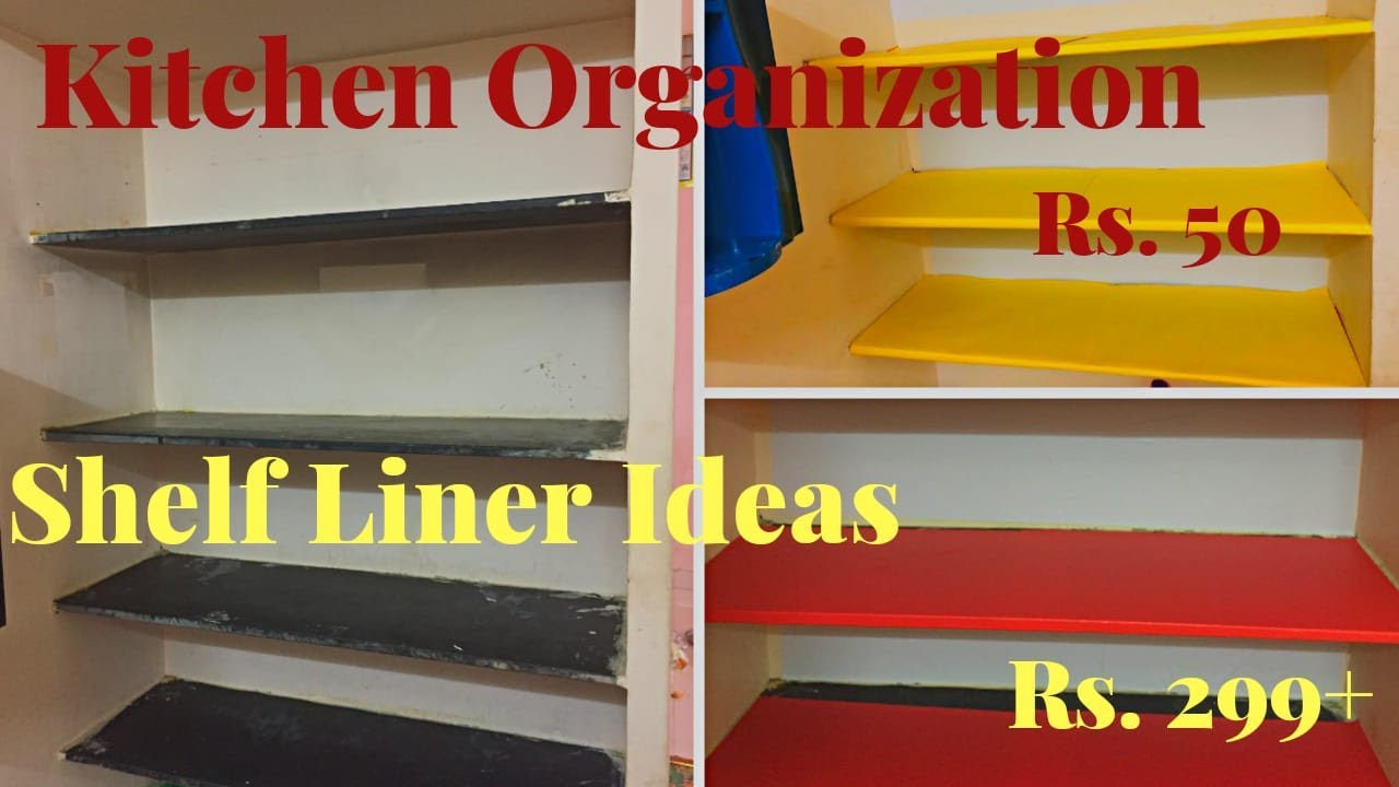 kitchen shelf liner ideas- simple indian kitchen makeover // part -1