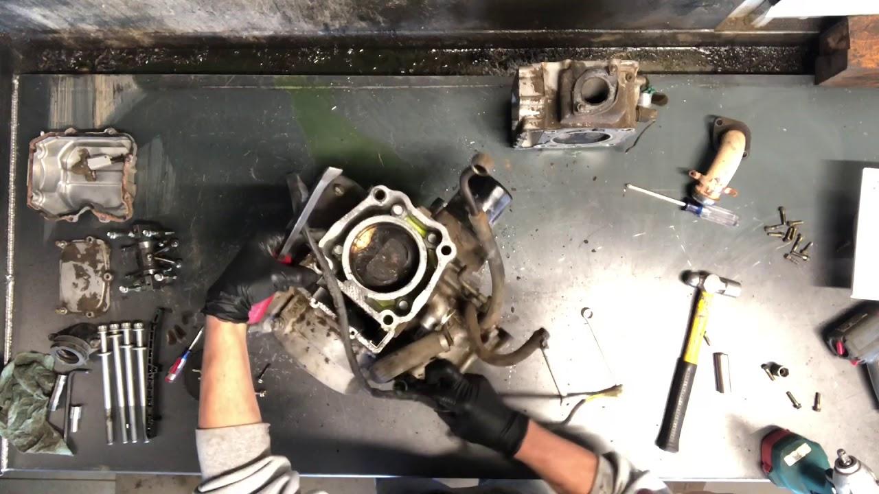 HOW TO -1/2 Polaris Magnum Sportsman Ranger 500 425 400 Motor Disassembly  Rebuilt Crankcase Case
