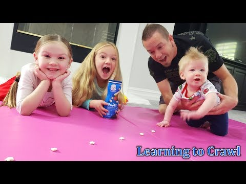Teaching Our Baby To Crawl!!!