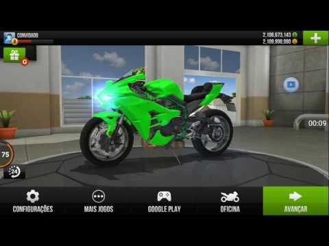Traffic Rider Dinheiro Infinito APK na Descrição