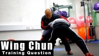 Wing Chun training - wing chun how to deal with mma take down.Q26