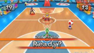Mario Sports Mix Single Player Basketball Pt 2