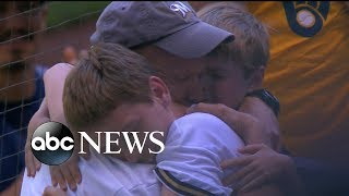 Military dad stationed overseas surprises family at Milwaukee Brewers game