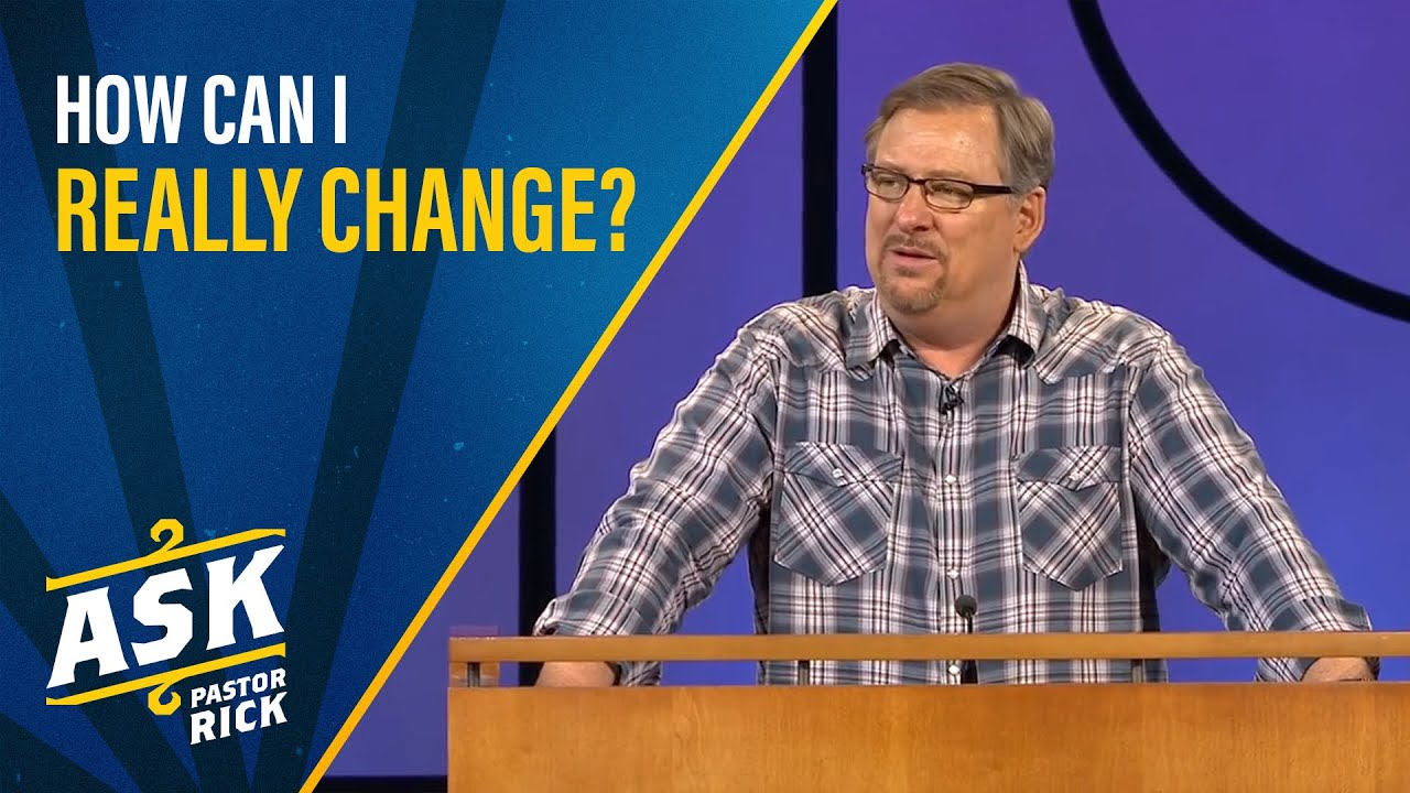 How Can I Really Change? (God's Prescription For A Healthy Life)