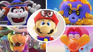 Super Mario Odyssey - All Boss Rematches with Mario 64 Costume