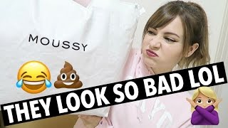 JAPANESE CLOTHING LUCKY BAG + TRY ON | Moussy 福袋 2017年