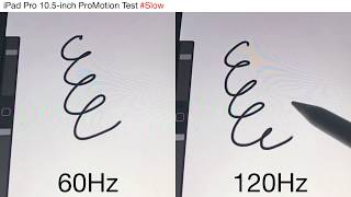 iPad Pro 10.5-inch ProMotion 60 vs 120Hz Latency Test with Apple Pencil