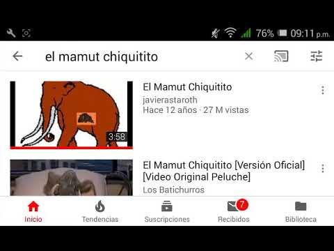el video de un mamut chiquitito