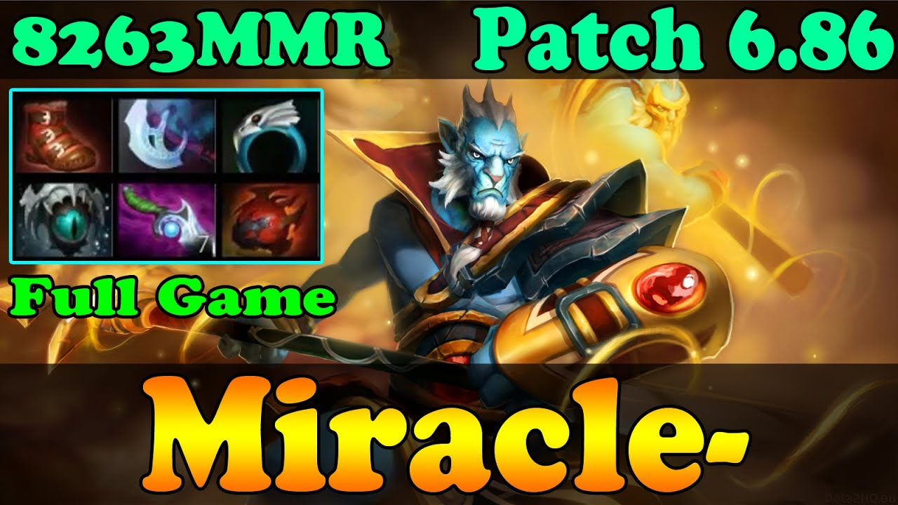 dota 2 patch 6 86 miracle 8263 mmr plays phantom lancer